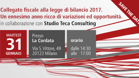 SAVE THE DATE – Seminario di approfondimento in materia fiscale