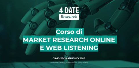 Corso in Social Media Listening: sconto del 60% riservato ai soci Research Chapter!